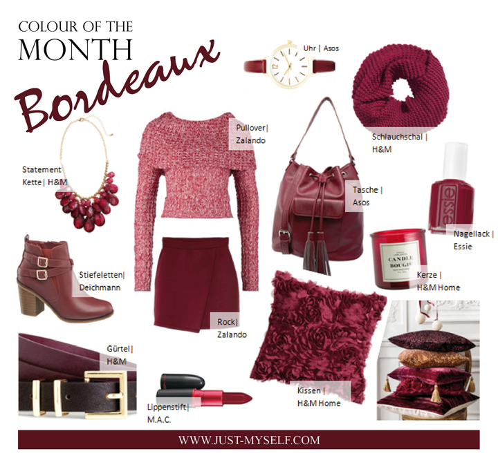 Bordeaux Colour Of The Month Justmyself