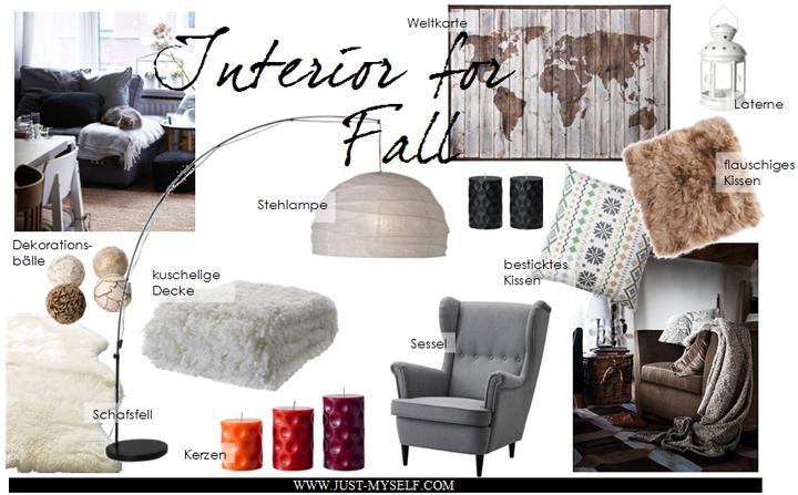 interior f r zuhause herbstzeit justmyself. Black Bedroom Furniture Sets. Home Design Ideas