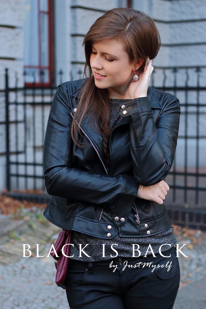 justmyself fashionblog schwarze lederjacke zara grauer pullover c und a tasche pull and bear. Black Bedroom Furniture Sets. Home Design Ideas