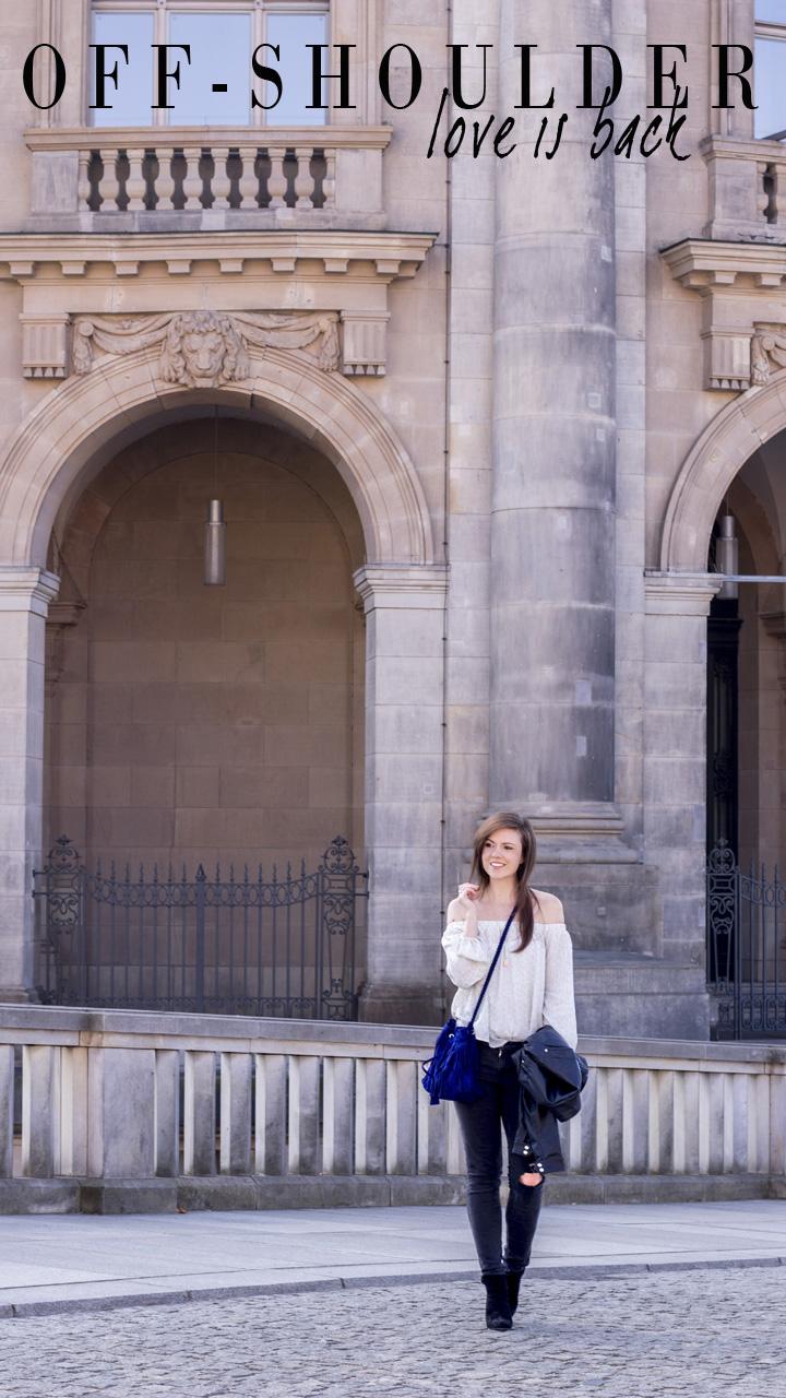 JustMyself-Fashionblog-Deutschland-Off-Shoulder-Bluse-Forever21-ripped-jeans-ankle-boots-zara-lederjacke-frühlingsoutfit-1