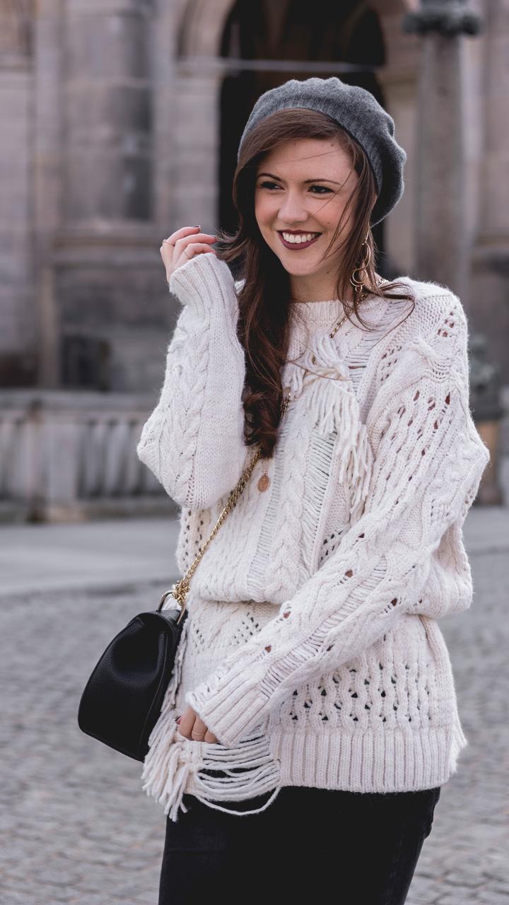 Oversize WInter Pullover mit Rissen Zara