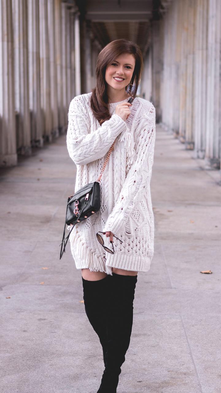 sweater weather zara pulloverkleid und overknees justmyself. Black Bedroom Furniture Sets. Home Design Ideas